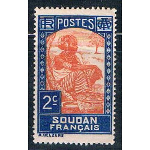 Sudan French 62 MLH Sudanese Woman 1931 (S0844)+