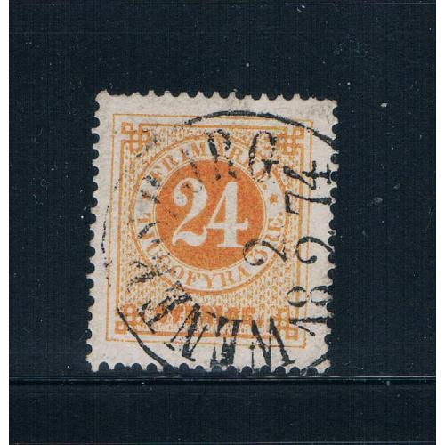 Sweden 24 Used Numeral CV 42.50 (S0686)