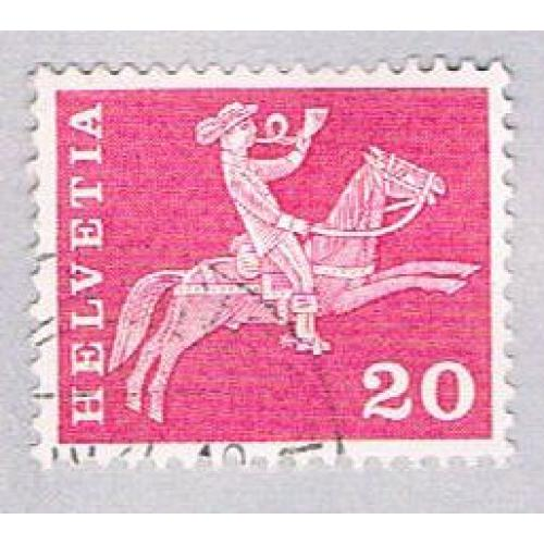 Switzerland 385 Used Postillion on Horseback 1960 (BP26115)