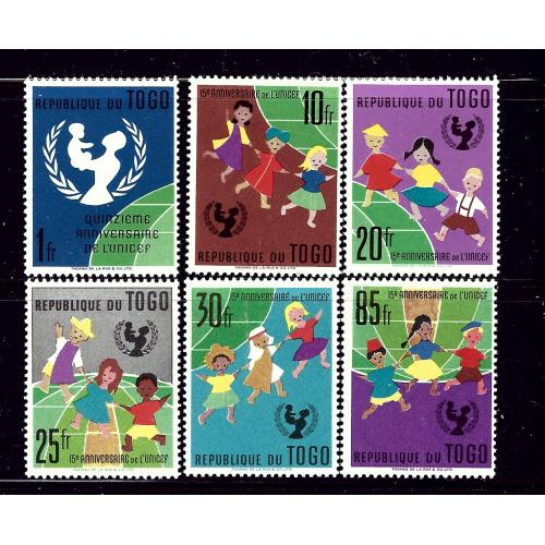 Togo 411-16 MNH 1967 Children