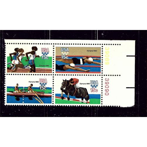 U.S. 1794a MNH 1979 Olympics block of 4