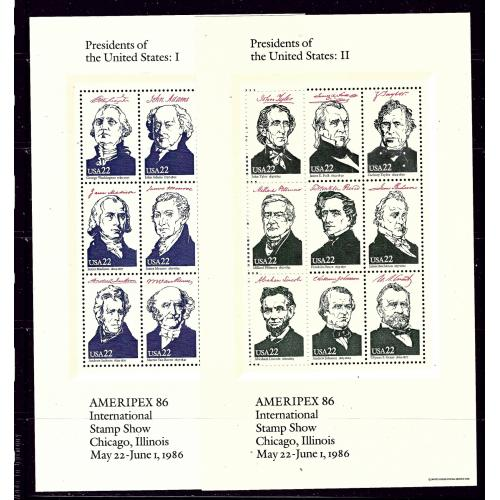 U.S. 2219-19 MNH 1986 U.S Presidents four sheets