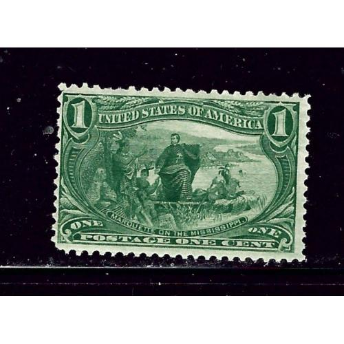 U.S. 285 MNH 1898 issue small gum pul  some gum wrinkles
