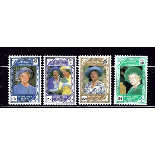 British Virgin Is 673-76 MNH 1990 Queen Mother 90th Birthday