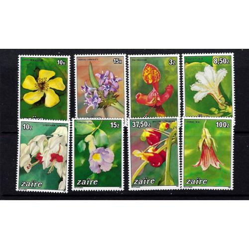 Zaire 1146-53 NH 1984 Local Flowers cat val $15.95