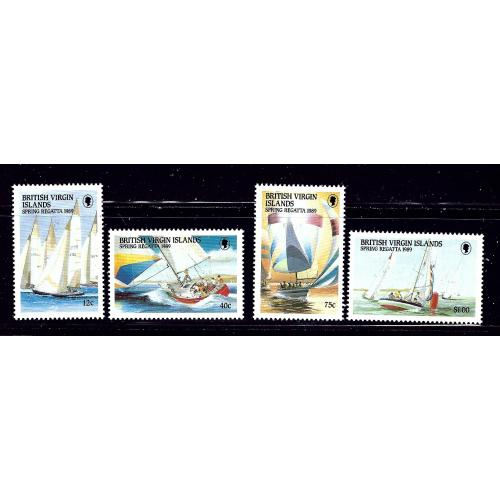 British Virgin Is 631-34 MNH 1989 Yachts    (ap1109)