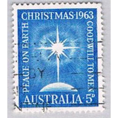 Australia 380 Used Star of Bethlehem 1 1963 (BP55520)