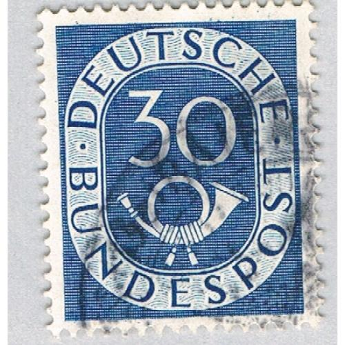 Germany 679 Used Numeral 30 1951 (BP58509)