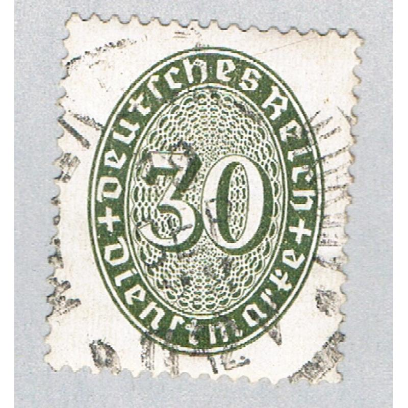 Germany O77 Used Numeral 30 2 1927 (BP59103)