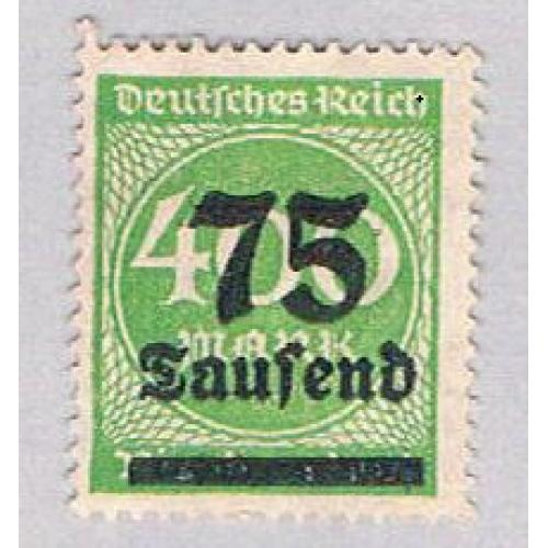 Germany 251 MLH 75 over 400 1923 (G0593)+