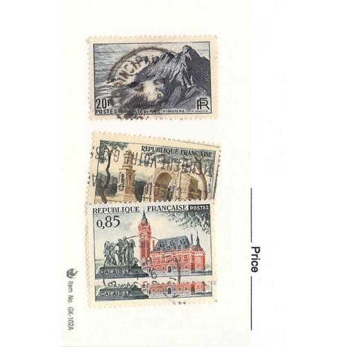 France 3 different of 4 total stamps included  (SC0_204)