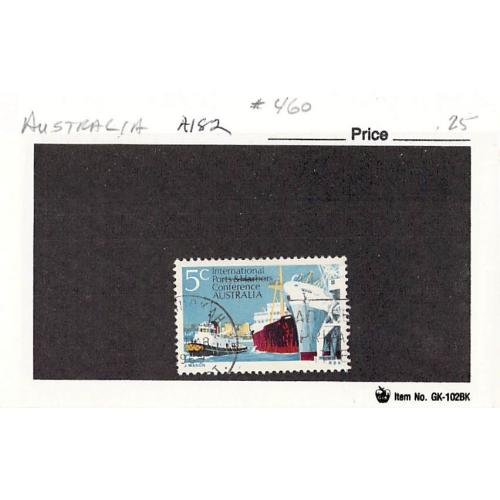 Australia 460 Used Harbor Scene 1969 (SC0_536)