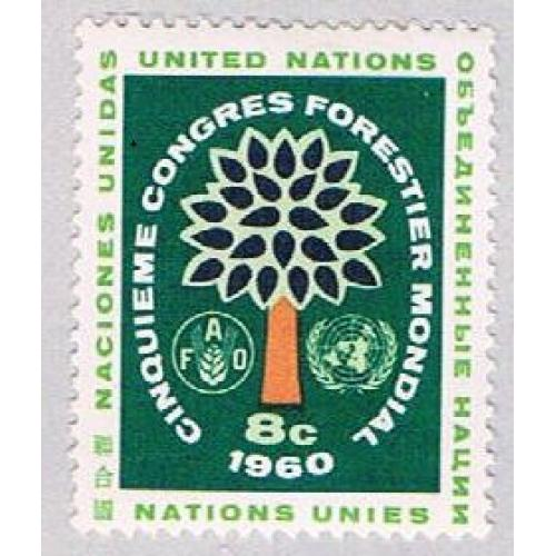 United Nations NY 82 MNH Tree 1960 (BP49614)