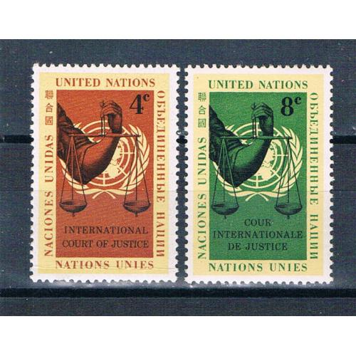 United Nations NY 86-87 MLH set Scales of Justice 1960 (MV0395)