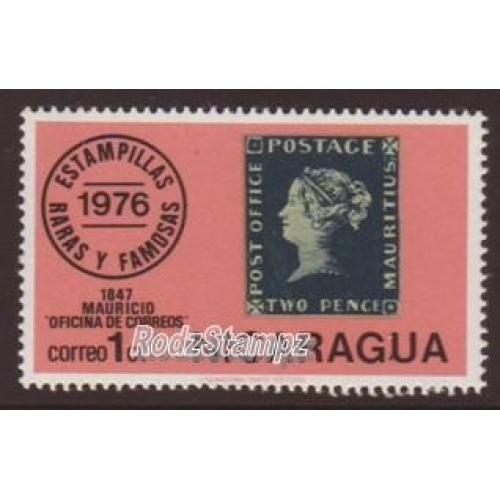 Nicaragua 1976 Sc#1038  SG#2087 Famous Stamps Penny Black CTO