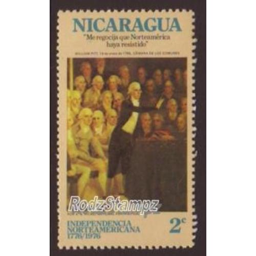 Nicaragua 1975-6 Sc#979  SG#2001 American Independence Bicentenary