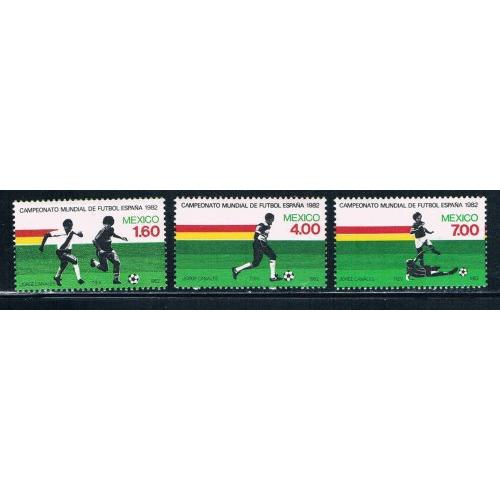 Mexico MNH Set 1278-1280 Soccer Cat Val $3.00 (ML0186)