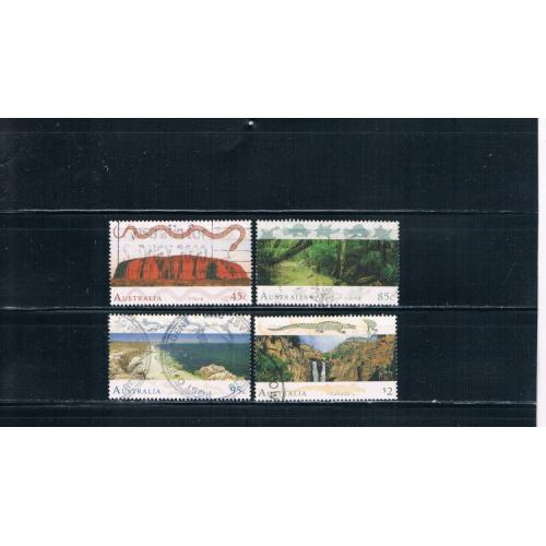 Australia 1311-1314 Used set Landscapes Cat Val 6.05 (A0002)