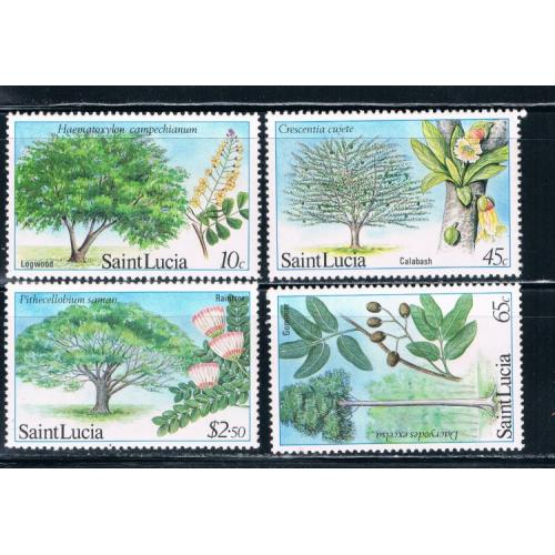 St Lucia 649-652 Trees MNH Cat Val 2.95 (S0111)