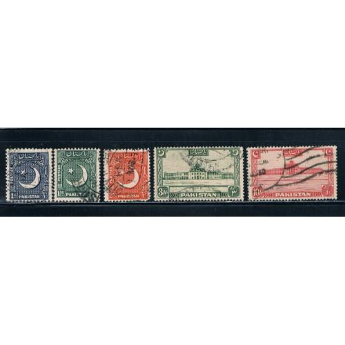 Pakistan 47-49;36;50 Used Cat Val 9.00 (P0033)