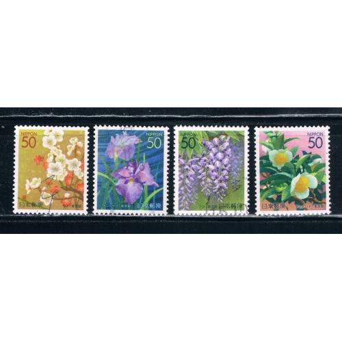 Japan Prefecture Used Set Z604-07 Flowers CV 2.60 (JZ304)