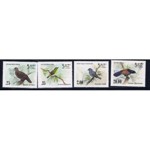 Sri Lanka 691-94 Lightly Hinged 1983 Birds SCV 2015 $6.90