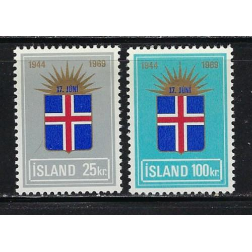 Iceland 408-08 Hinged 1969 complete set