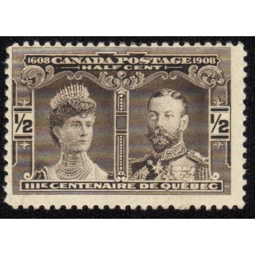 1903-1908 CANADA SC #96 HALF CENT PRINCE & PRINCESS OF WALES  MLH OG VF