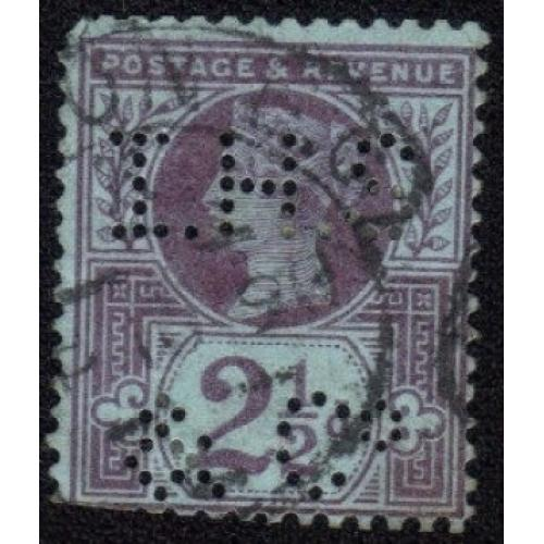 1887 GREAT BRITAIN QV-SC #114 VIOLET BLUE 2-1/2c USED F-VF