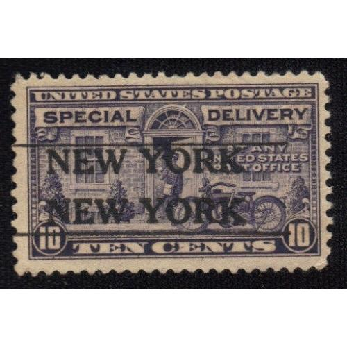 1922 SC #E12 USED SUPERB SPECIAL DELIVERY 10c -NEW YORK CANCELLATION VF-XF