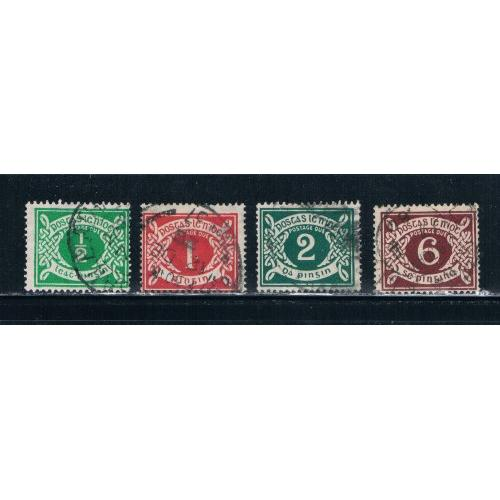 Ireland J1-J4 Used Postage Due CV 84.00 (I726)